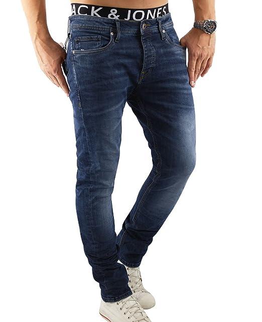 Jack & Jones Hombre Del ajustado de Tim originales 085 Jeans, Azul, 36W x 32L