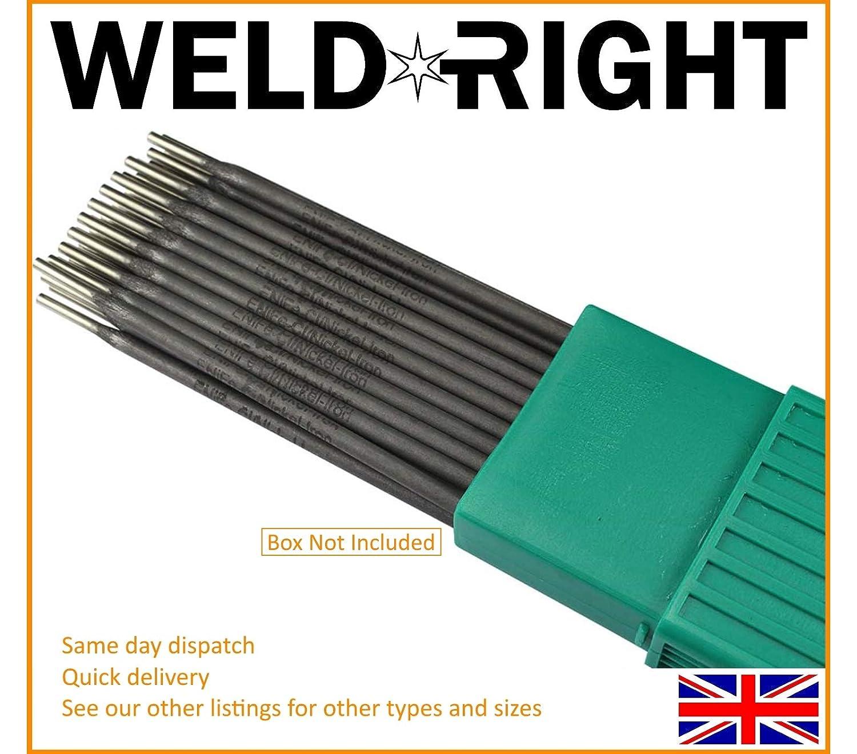 Weld Right ENiFe-C1 Ferro Hierro Fundido Electrodos Para Soldadura Por Arco Varillas 2.5mm X 20 Varillas: Amazon.es: Bricolaje y herramientas