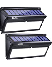BAXIA TECHNOLOGY Solar Lights Outdoor, Wireless 100 LED Solar Motion Sensor Lights, Easy Install Waterproof Security Lighting for Front Door, Back Yard, Steps, Garage, Garden (2000LM, 2PACK)