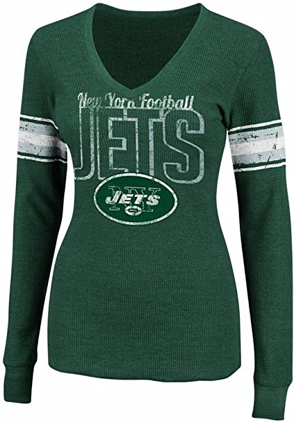 New York Jets Women s NFL Game Day Long Sleeve Thermal Shirt Green Plus  Sizes (1X 8a3b87df1