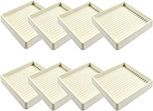 KCCOGT 3X3 Square Rubber Furniture Caster Cups with Anti-Sliding Floor Grip (Set of 8)