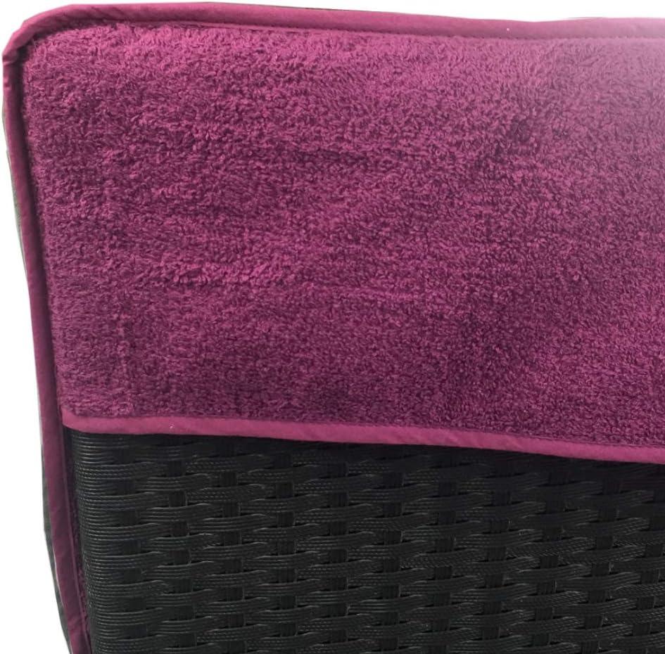 Housse de Bain de Soleil antid/érapante 100/% Coton Couleur:Turquoise SunDeluxe Serviette de Plage pour Chaise Longue de Plage et de Jardin 75 x 200 cm