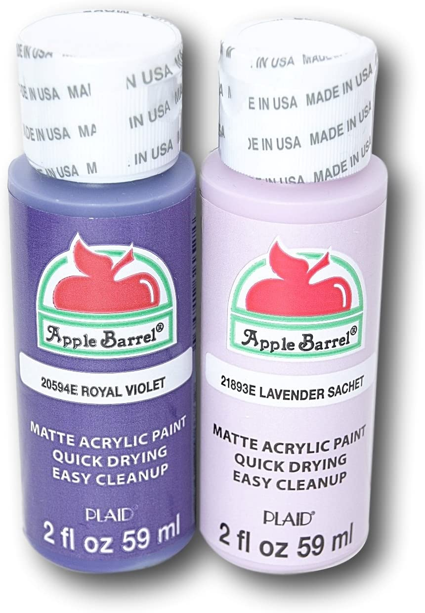 Apple Barrel Acrylic Paint Set - Royal Violet & Lavender Sachet (2 Ounces Each)
