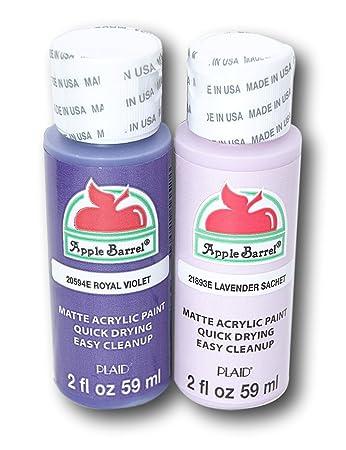 Amazon.com: Apple Barrel Acrylic Paint Set - Royal Violet & Lavender ...
