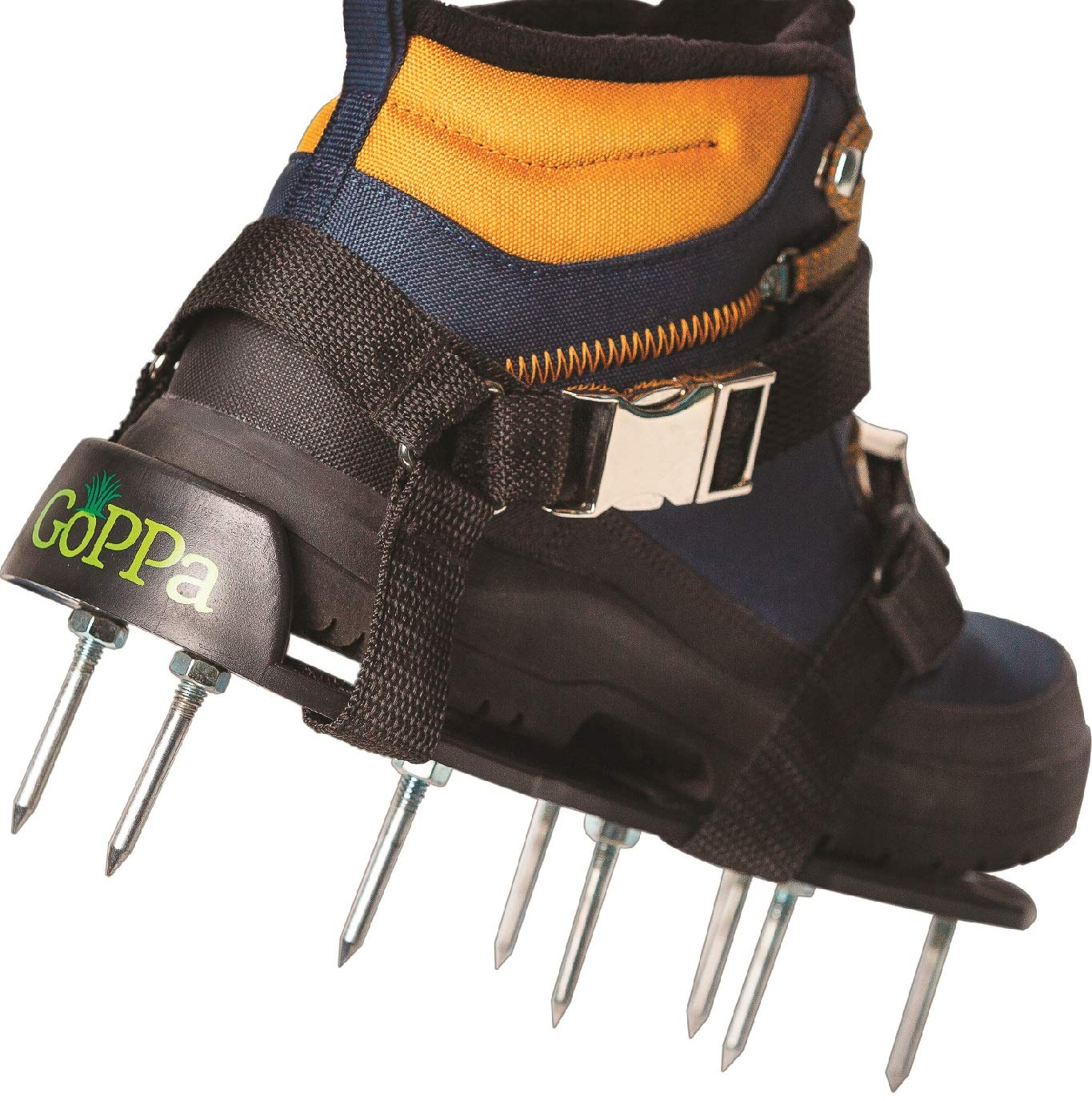 GoPPa Lawn Aerator Shoes - Easiest to USE Lawn Aerator Sandal, You only FIT Once. Ready for aerating Your Yard, Lawn, Roots & Grass - Comfort Design by GoPPa