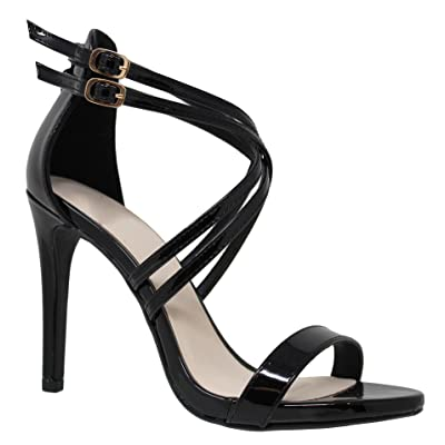 MVE Shoes Women's Cross Strappy Open Toe Sexy Party Heeled-Sandals | Sandals