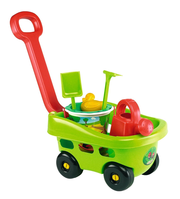 Ecoiffier Handwagen Garten mit Eimergarnitur