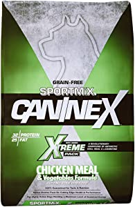 Sportmix Caninex Chicken Meal And Vegetables Grain Free Dry Dog Food, 40 Lb.