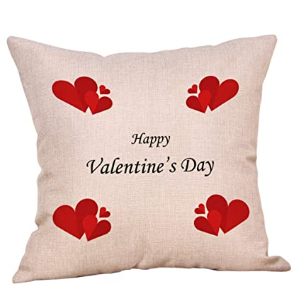 NPRADLA Cojín Fundas Happy LoveS Day Throw Funda de cojín ...