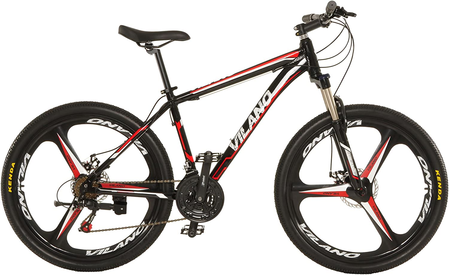 """Vilano 26"" Mountain Bike Ridge 2.0 MTB 21 Speed with Disc Brakes""Vilano Bikes Review"