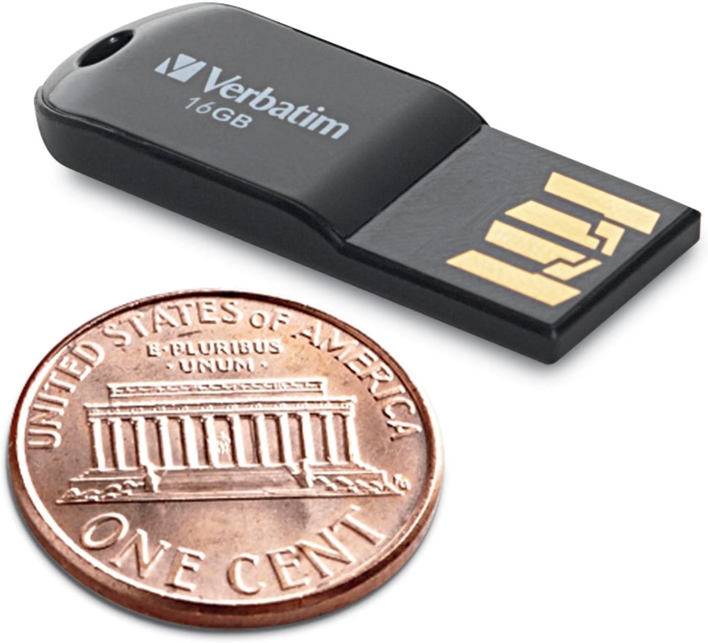 Black 44050 Verbatim 16GB Micro USB Flash Drive
