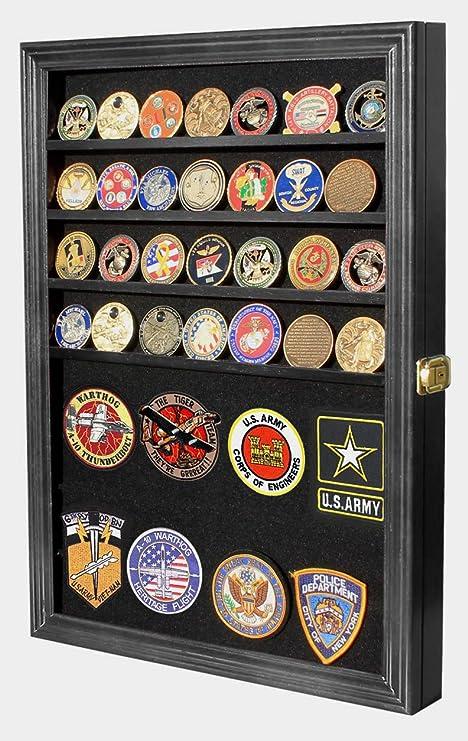 DisplayGifts Challenge - Caja expositora para Monedas, medallas, alfileres, Insignias, fichas de póquer, Negro: Amazon.es: Deportes y aire libre