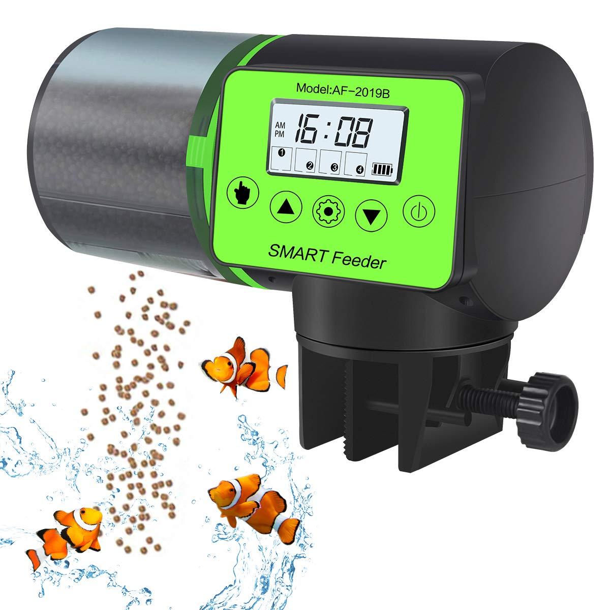 PETRIP Automatic Fish Feeder Update Timer Fish Dispenser Premium Large Capacity 200ML Fish Food Dispenser for Aquarium or Fish Tank by PETRIP