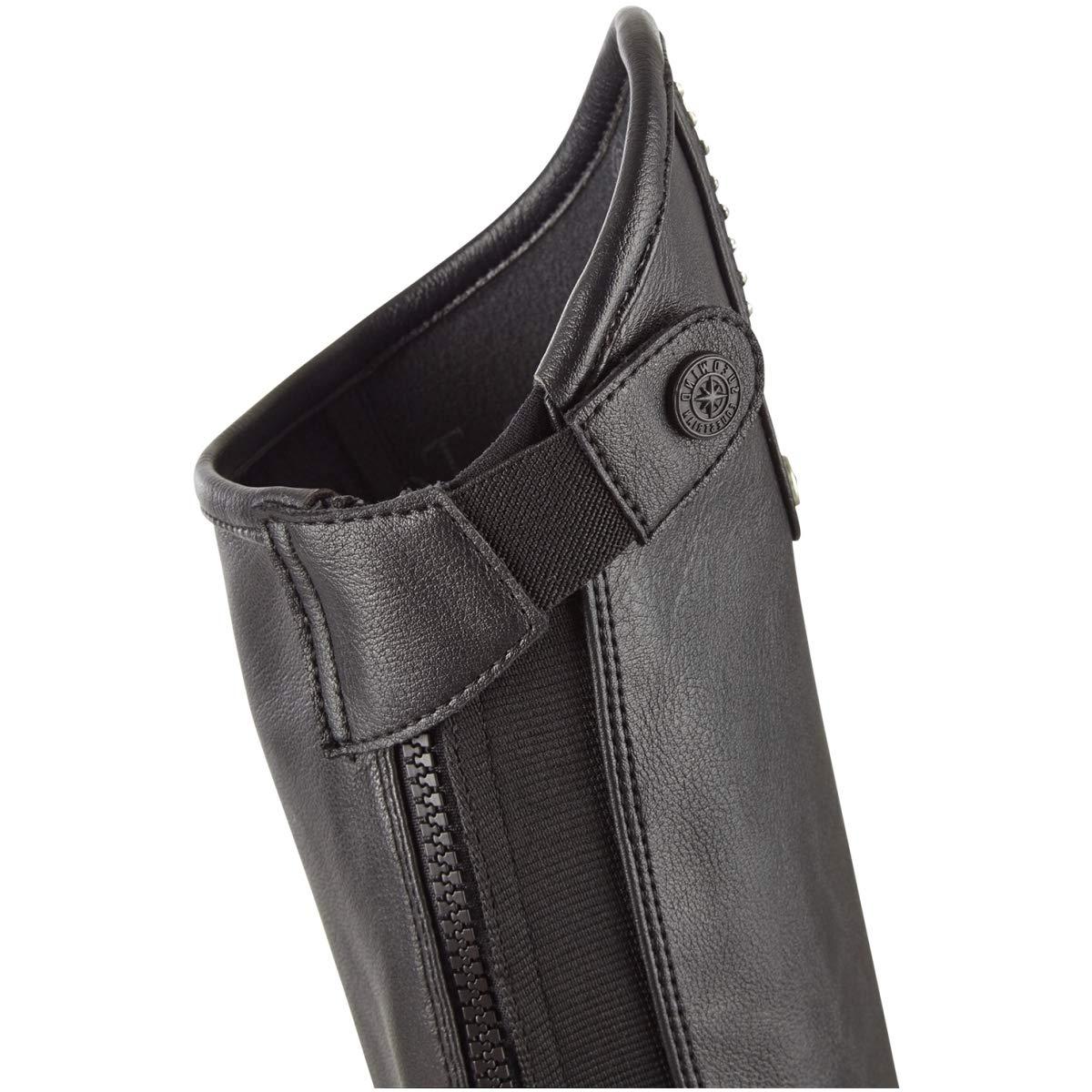 SUEDWIND Damen Minichaps Leder Comfort Comfort Comfort Soft Glitter schwarz W35-39 L51 - LXT 992158