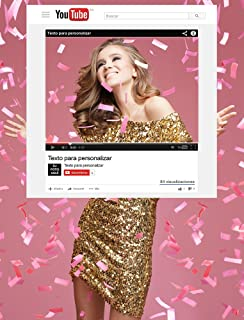 Photocall YouTube | Medidas 100x120cm | 100% Personalizado para Eventos Bodas , Bautizos , Cumpleaños