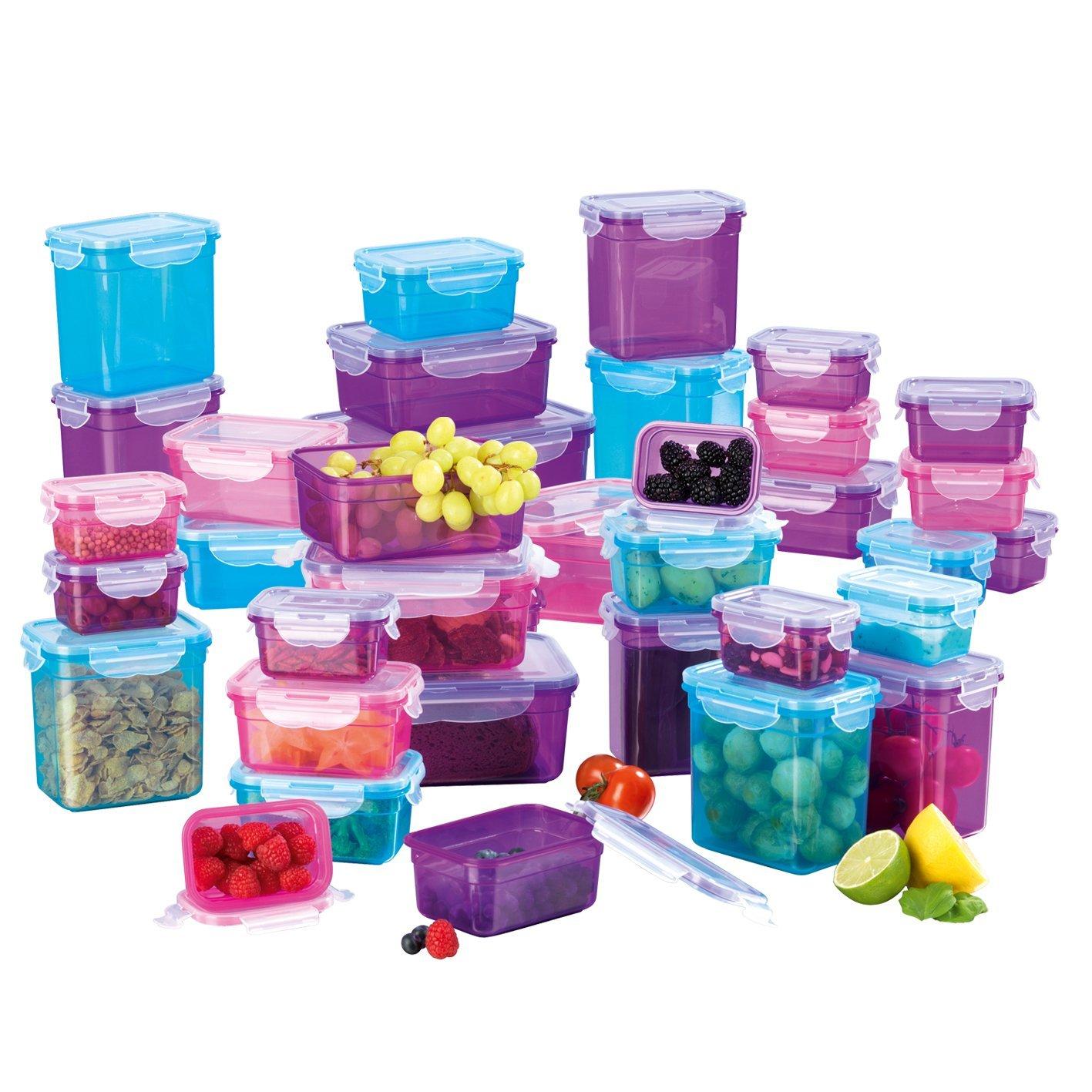 GOURMETmaxx 02003 Set di contenitori per conservazione alimenti BPA, 36 pezzi | Risparmio ermetico e aromatico | Lavastoviglie, congelatore, microonde sicuro | Contenitore per alimenti coperchio a clip