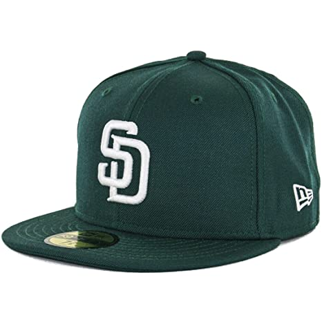 Amazon.com   New Era 59Fifty San Diego Padres Fitted Hat (Dark Green ... c2045593ea7