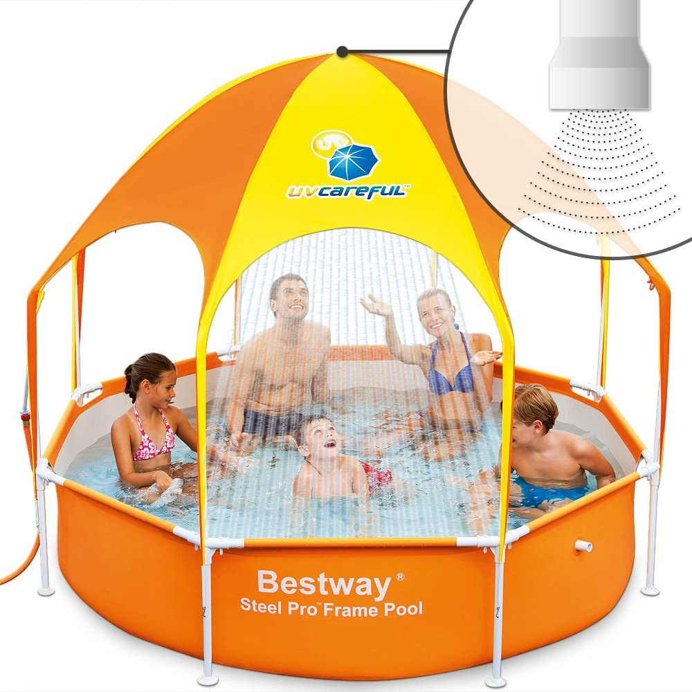 Bestway Splash In Shade - Piscina con techo, 244 x 51 cm: Amazon ...