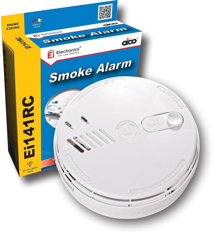 Detector de humo mediante ionización Aico EI141RC, con batería de respaldo de 9 V: Amazon.es: Bricolaje y herramientas