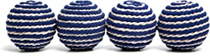 NIKKY HOME Decorative Ball Bowl Fillers Dining Coffee Table Centerpiece Blue Set of 4