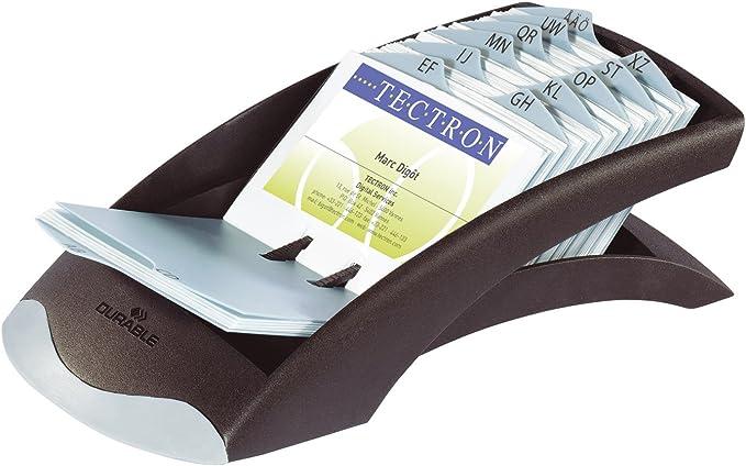 Durable 248123 Visifix Rollkartei Register A-Z Für 400 Visitenkarten Metalli