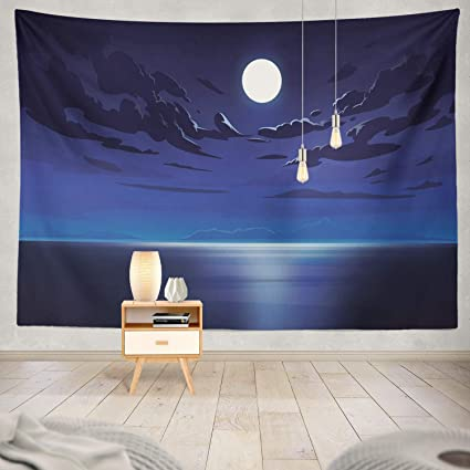 Amazon Com Summor Tapestry Night Sky Clouds Night Sky Cloud Anime