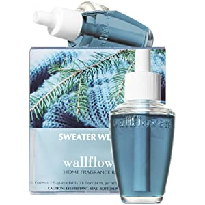 Bath and Body Works SWEATER WEATHER Wallflowers 2-Pack Refills (2019 Edition)
