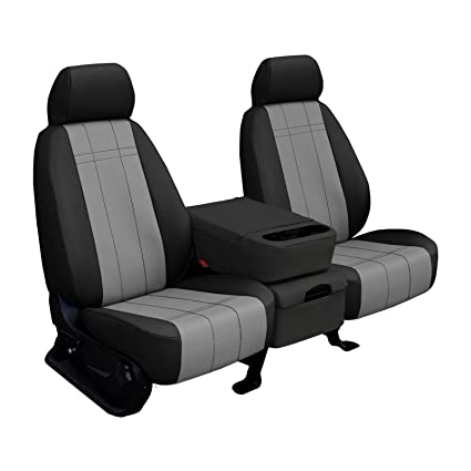 Miraculous Front Seats Shearcomfort Custom Imitation Leather Seat Covers For Ford F150 2015 2019 In Black W Light Gray For 40 20 40 W Folddown Solid Arm Machost Co Dining Chair Design Ideas Machostcouk
