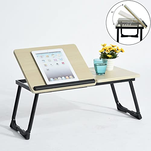 Coavas Portable Laptop Stand table Adjustable Notebook Stand Folding Computer Laptop Table Reading Stand Desk (black)