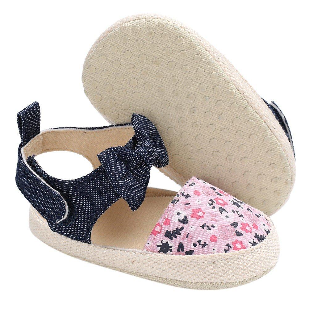 d5a862cff4681 Minuya Chaussures de Bébé, Chaussures Bebe Fille Cuir Souple Bowknot Ete  Sandales Chaussures Premiers Pas pour ...