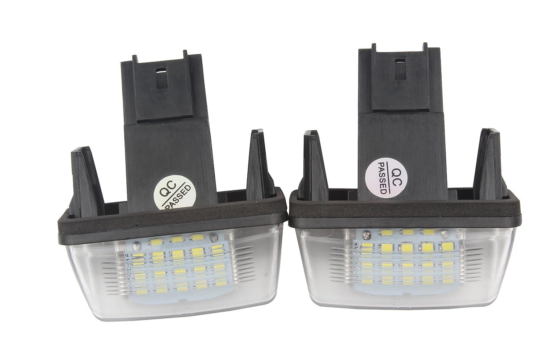 LED NUMBER PLATE LICENSE PANEL LIGHT LAMP Citroen Xsara Picasso Peugeot
