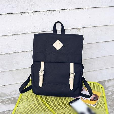 f5f539dd4a Campus high school junior high school student female Korean version canvas  backpack   simple wild college