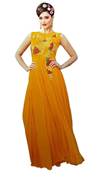Amazon.com: Indian Designer Party Wear Gowns Bollywood Traditional ...