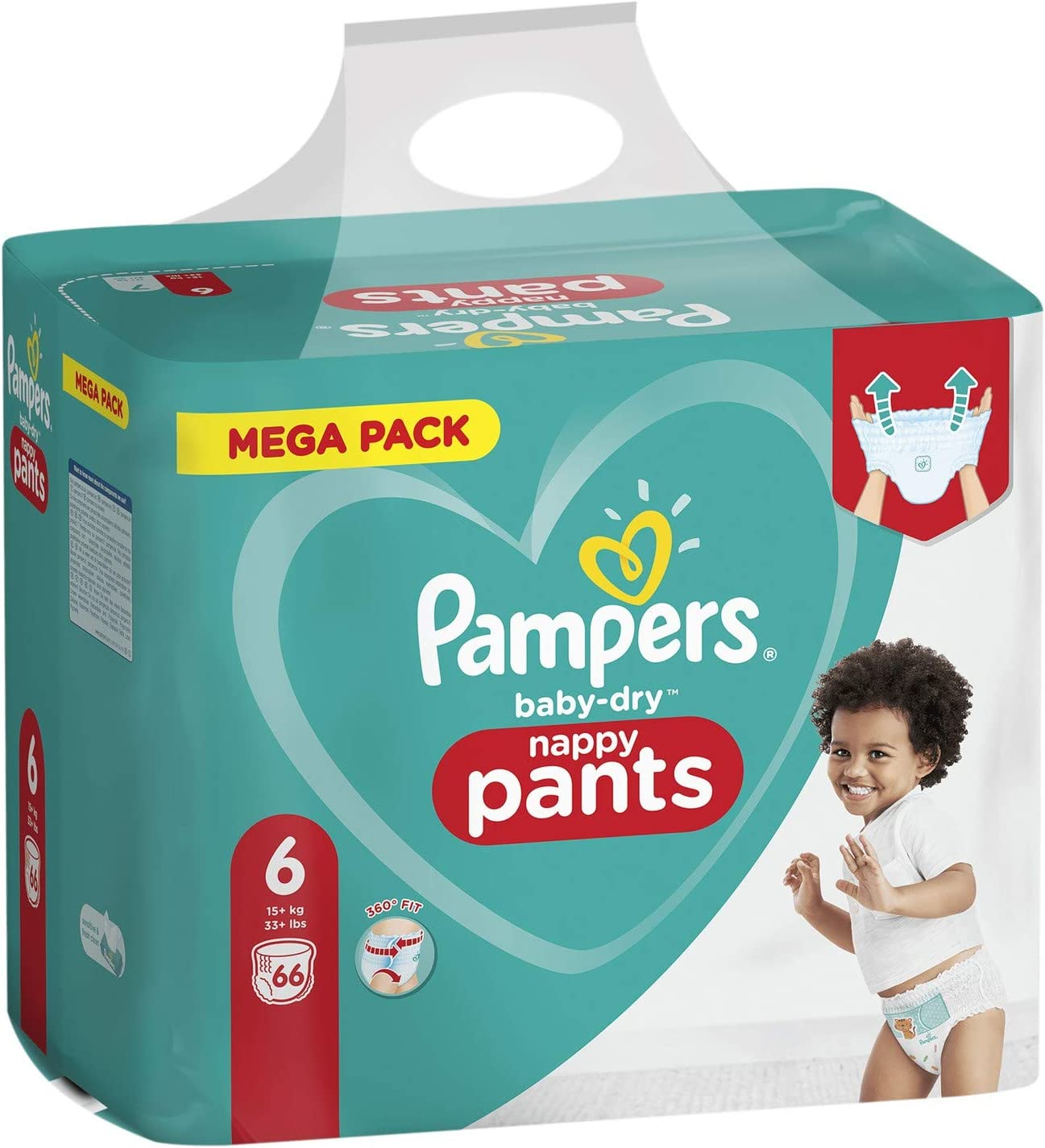Pampers 81714244 Baby-Dry Pants Nappy Pants White