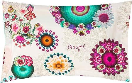Federe Cuscini Desigual.Federa Cuscino Desigual Rectangular Happy Blossom Xt Multicolore