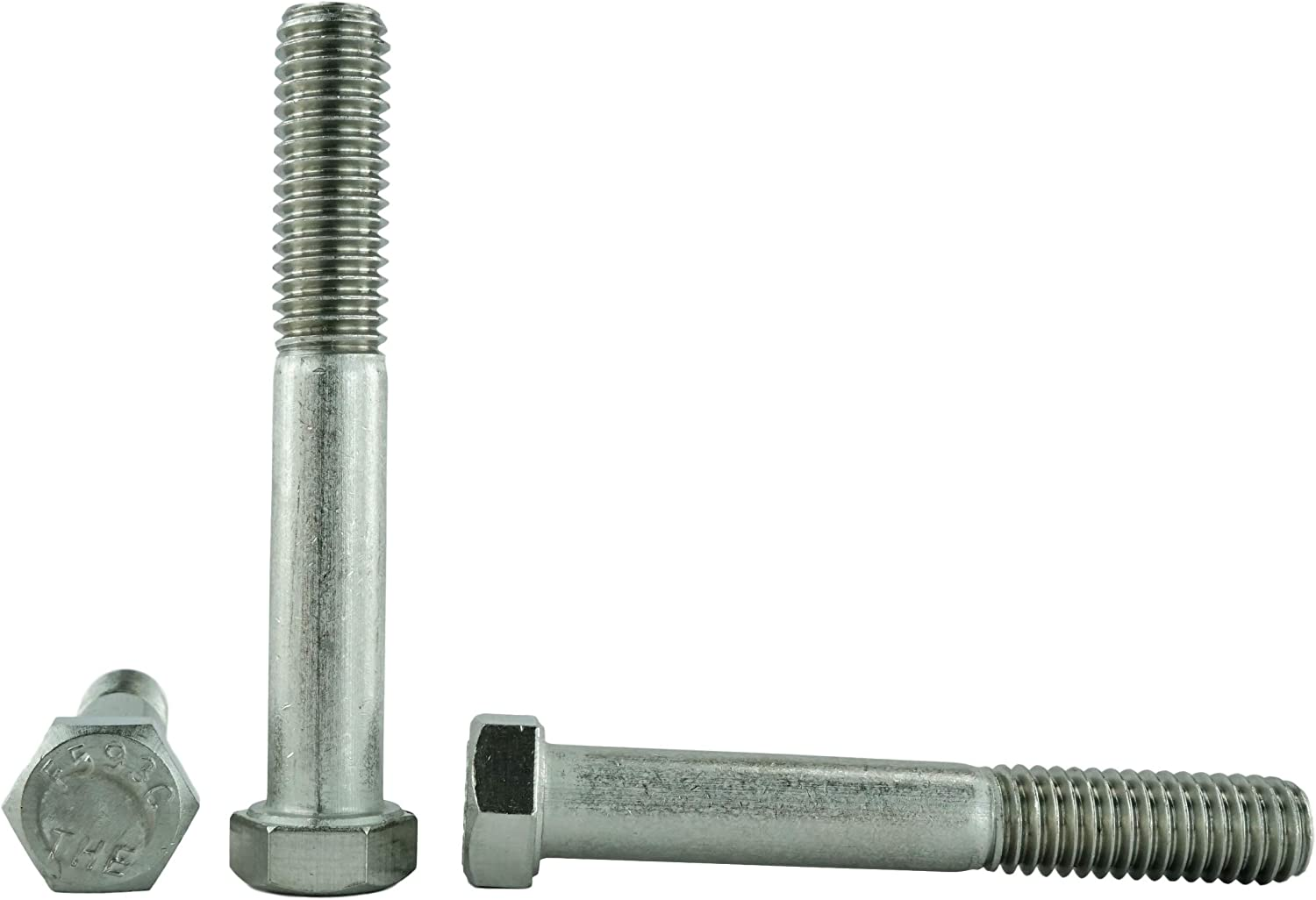 3//4 To 5 Lengths Available in Listing 7//16-14 x 3 10 pieces 304 Stainless Steel Stainless 7//16-14 x 3 Hex Head Bolts