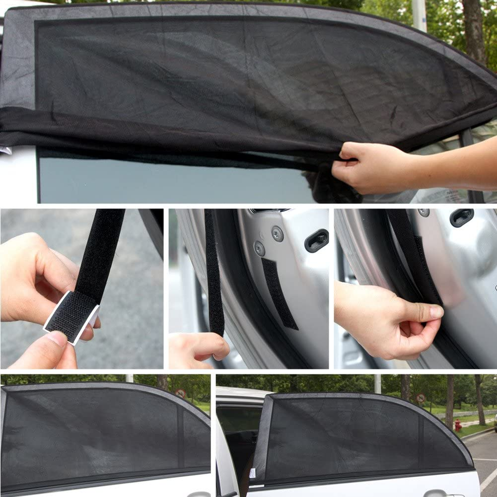 HEHEMM 5 Pc//Set Black Auto Sun Visor Car Sun Shade Car Window Suction Cup Car Curtain Auto Sun Shade Car Styling Covers Sunshade