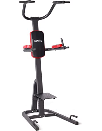 SportPlus SP-HG-014 Torre Multifuncional, Inmersión Plegable, Estación de Fitness para