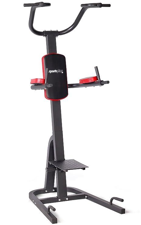 SportPlus Power Tower agarres Dip Plegables, Barra de dominadas y agarres de Flexiones, para