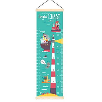 Amazon Pandamall Baby Height Growth Chart Ruler Kids Roll Up