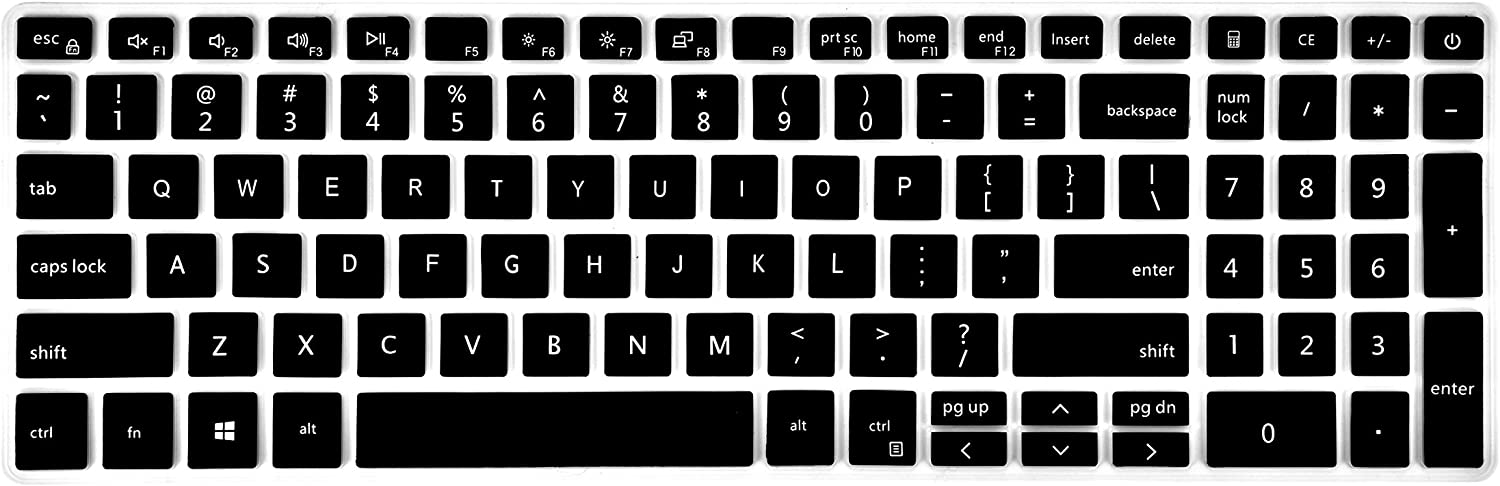 Ultra Thin Keyboard Skin Cover Compatible with 15.6