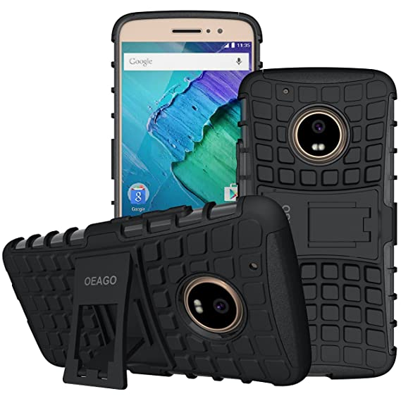 wholesale dealer 3a64e 4dcef Moto G5 Plus Case, Motorola Moto G Plus (5th Generation) Case, OEAGO  [Shockproof] Tough Rugged Dual Layer Protective Case with Kickstand for  Motorola ...