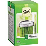 Ball Jars Wide Mouth Lids & Bands, Case of 12
