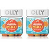 Olly Essential Prenatal Multivitamin Gummy Supplement, with FOLIC ACID + Omega-3s, Vibrant Citrus, 60 count, 2 Pack