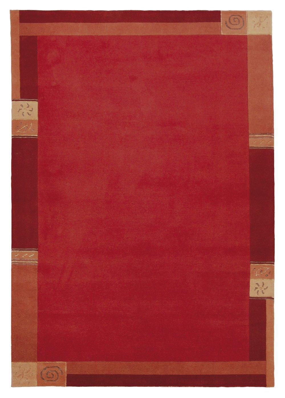 Sona-Lux Nepal Teppich handgeknüpft rot