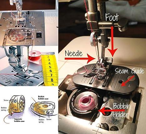 50 bobinas de plástico para máquina de coser con funda de ...