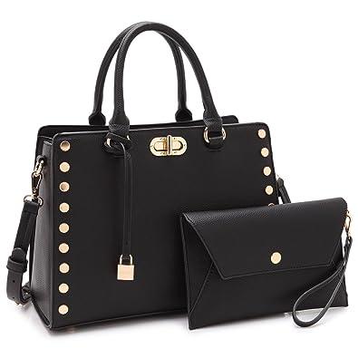 Designer Handbags Purses For Women Tassel Lock Satchel Bags Top Handle  Shoulder Bag With Matching Wallet  Handbags  Amazon.com 62959e9ee8cf5