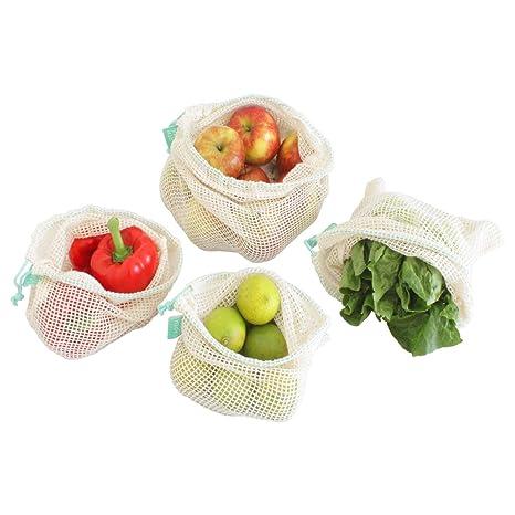 Earthtopia Juego de 4 Bolsas para Frutas y Vegetales Hechas ...