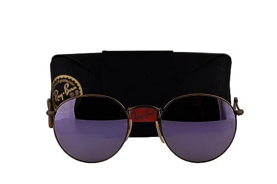 Ray-Ban RB3447 Gafas de sol redondas de metal w/Lillac ...