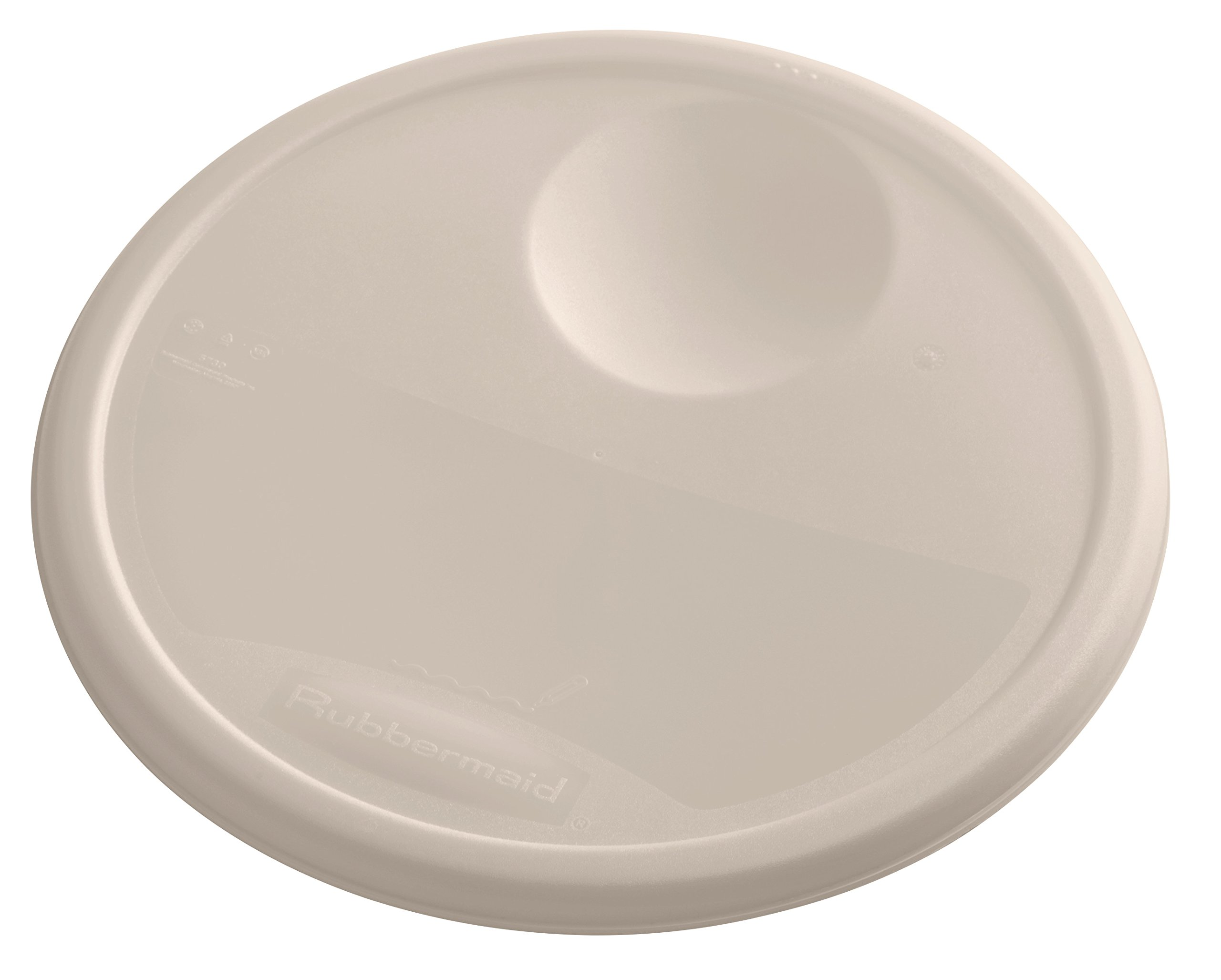 Rubbermaid Commercial Products 1980392 Plastic Food Storage Container Lid, Round, 12 Quart, Brown by Rubbermaid Commercial Products